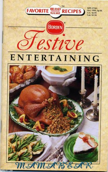 Favorite Brand Name Recipes **Festive Entertaining** by Borden
