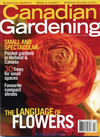 Canadian Gardening February/March 2003 The Language of Flowers
