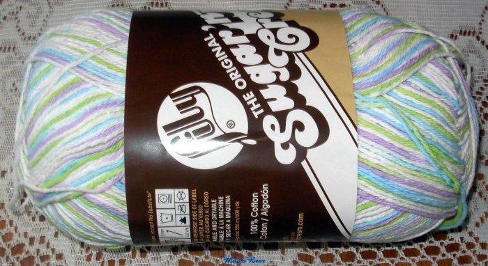 Lily Sugar ' n Cream Cotton Yarn Lavender Ice 12 oz Skein