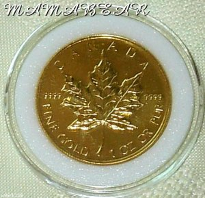 $50 Gold Canadian Maple Leaf 1 Troy Oz. Uncirculated