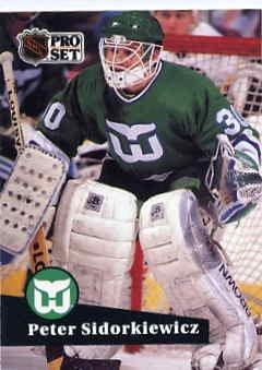 1991/92 NHL  Pro Set Hockey Card Peter Sidorkiewicz #90 N/Mint
