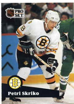 1991/92 NHL  Pro Set Hockey Card Petri Skriko #8  Near Mint