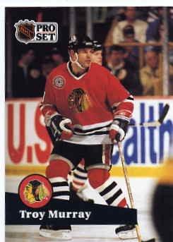 1991/92 NHL  Pro Set Hockey Card Troy Murray #46 Near Mint