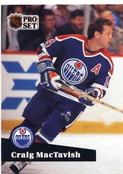 1991/92 NHL  Pro Set Hockey Card Craig MacTavish #77 N/Mint