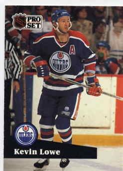 1991/92 NHL  Pro Set Hockey Card Kevin Lowe #76  N/Mint
