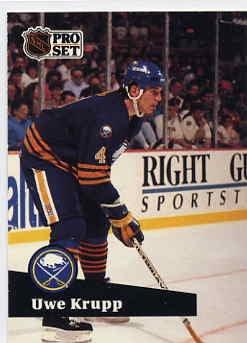 1991/92 NHL  Pro Set Hockey Card Uwe Krupp  #20  Near Mint