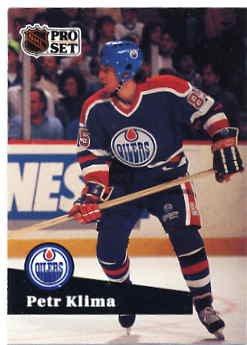 1991/92 NHL  Pro Set Hockey Card Petr Klima #72  Near Mint