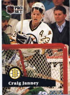 1991/92 NHL  Pro Set Hockey Card Craig Janney #2 Near Mint