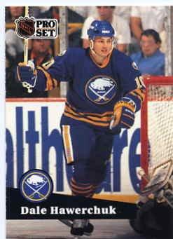 1991/92 NHL  Pro Set Hockey Card Dale Hawerchuk #24 N/Mint
