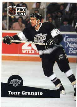 1991/92 NHL  Pro Set Hockey Card Tony Granato #88 Near Mint