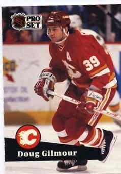 1991/92 NHL  Pro Set Hockey Card Doug Gilmour #34  Near Mint