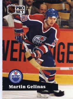 1991/92 NHL  Pro Set Hockey Card Martin Gelinas #66 Near Min