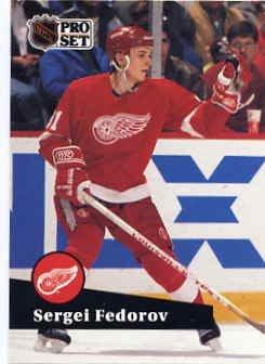 1991/92 NHL  Pro Set Hockey Card Sergei Fedorov #53 Near Min