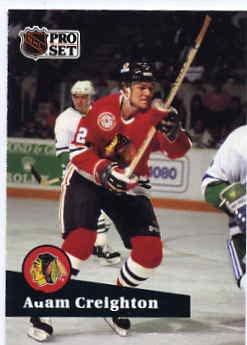 1991/92 NHL  Pro Set Hockey Card Adam Creighton #42 Near Mint