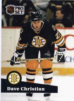 1991/92 NHL  Pro Set Hockey Card Dave Christian #11 N/Mint