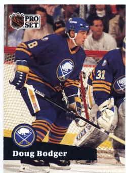 1991/92 NHL  Pro Set Hockey Card Doug Bodger # 19  Near Mint