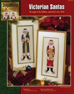 StitchWorld X-Stitch Victorian Santas Cross Stitch Pattern Leaflet New