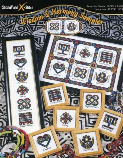 StitchWorld X-Stitch Wisdom & Harmony Sampler Cross Stitch Pattern Leaflet New