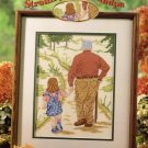 StitchWorld X-Stitch Strolling with Grandpa Cross Stitch Pattern Leaflet New