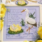 StitchWorld X-Stitch Lily Pond Birth Announcement Cross Stitch Pattern Leaflet New