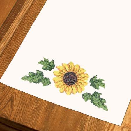 Sunflower Dresser Scarf Cross Stitch