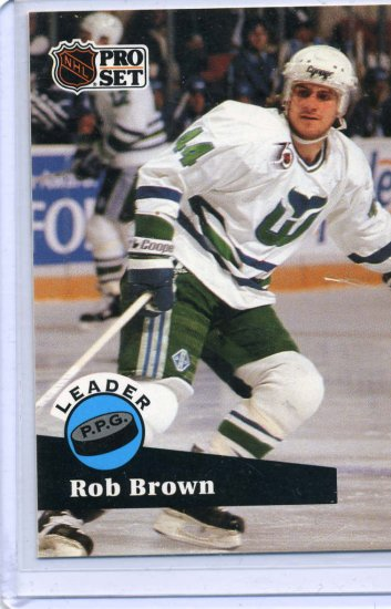 Rob Brown Leader 91/92 Pro Set #606 NHL Hockey Card