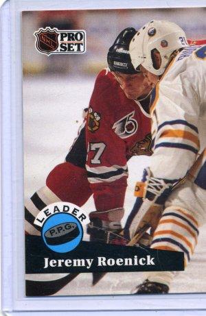Jeremy Roenick Leader 91/92 Pro Set #605 NHL Hockey Card