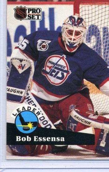 Bob Essensa Leader 91/92 Pro Set #602 NHL Hockey Card