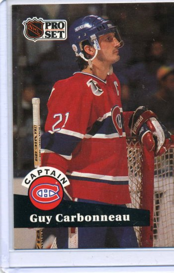 Guy Carbonneau 91/92 Pro Set #576 NHL Hockey Card Near Mint/Mint Condition