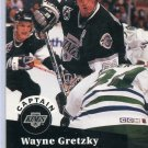 Wayne Gretzky Captian NHL Trading Card 1991/92 Pro Set #574 Near Mint/Mint Condition