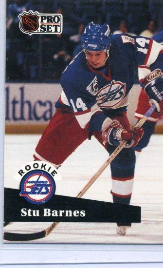 Stu Barnes 1991/92 Pro Set #566 NHL Hockey Trading Card Near Mint/Mint