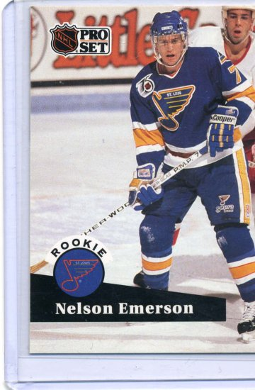 Nelson Emerson Rookie Year NHL 1991/92 Pro Set #557 Hockey Card Near Mint Condition