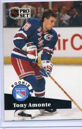 Rookie Tony Amonte 1991/92 Pro Set #550 NHL Hockey Card Near Mint Condition