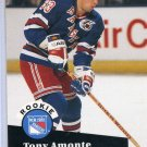 Rookie Tony Amonte 1991/92 Pro Set #550 NHL Hockey Card Near Mint Condition