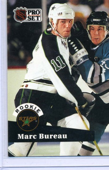 Rookie Marc Bureau NHL Hockey Trading Card 91/92 Pro Set #544 Near Mint