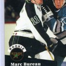 Rookie Marc Bureau NHL Hockey Trading Card 91/92 Pro Set #544 Near Mint