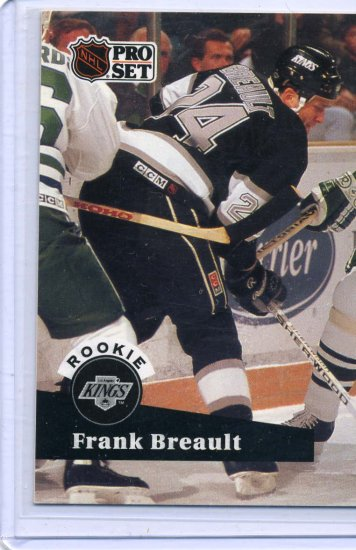 Rookie Frank Breault 1991/92 Pro Set #541 NHL Hockey Card Near Mint Condition