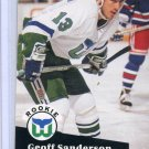 Rookie Geoff Sanderson 1991/92 Pro Set #536 NHL Hockey Card Near Mint Condition
