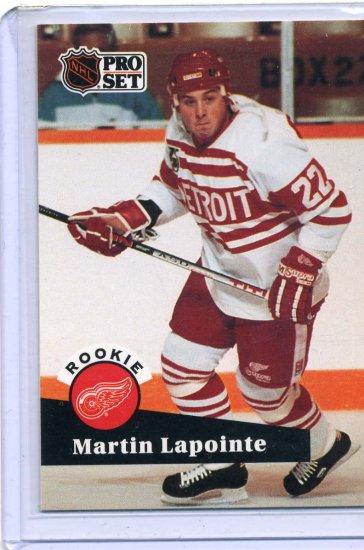 Rookie Martin Lapointe 1991/92 Pro Set #532 NHL Hockey Card Near Mint Condition