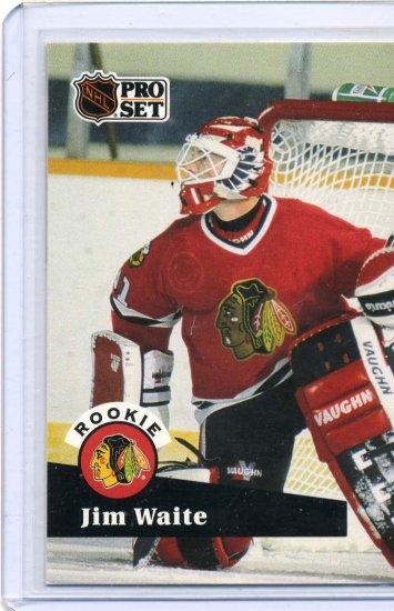 Rookie Jim Waite 1991/92 Pro Set #530 NHL Hockey Card Near Mint Condition