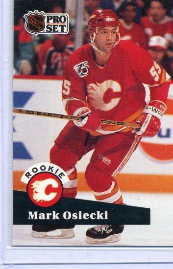 Rookie Mark Osiecki 1991/92 Pro Set #528 NHL Hockey Card Near Mint Condition
