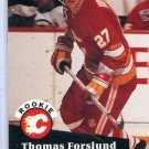 Rookie Thomas Forslund 1991/92 Pro Set #527 NHL Hockey Card Near Mint Condition
