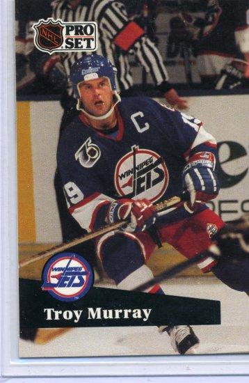 Troy Murray 91/92 Pro Set #514 NHL Hockey Card Near Mint Condition
