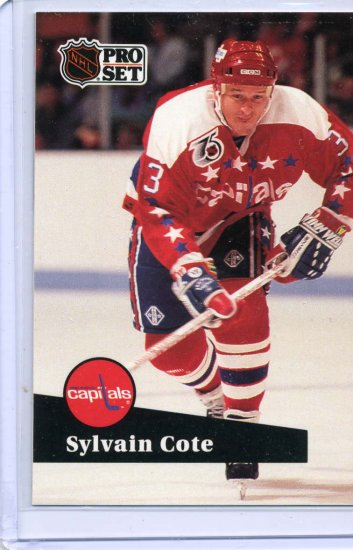 Sylvain Cote 91/92 Pro Set #512 NHL Hockey Card Near Mint Condition