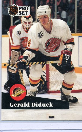 Gerald Diduck 91/92 Pro Set #502 NHL Hockey Card Near Mint Condition