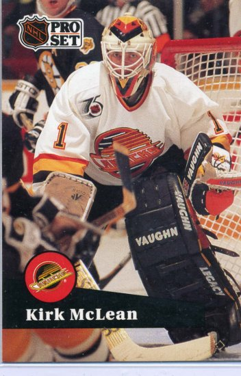 Kirk McLean 91/92 Pro Set #501 NHL Hockey Card Near Mint Condition