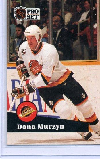 Dana Murzyn 91/92 Pro Set #498 NHL Hockey Card Near Mint Condition