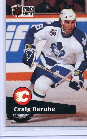 Craig Berube  91/92 Pro Set #495 NHL Hockey Card Near Mint Condition