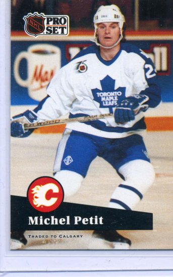 Michel Petit 91/92 Pro Set #492 NHL Hockey Card Near Mint Condition