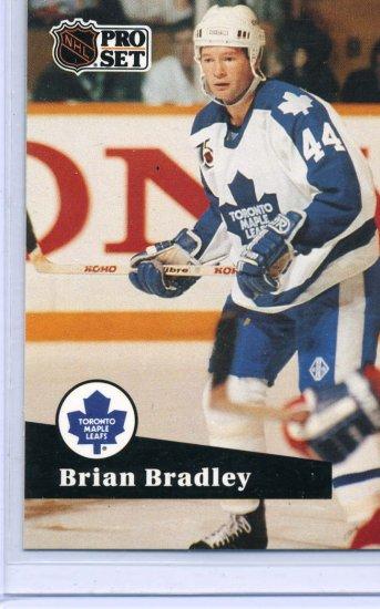 Brian Bradley 91/92 Pro Set #489  NHL Hockey Card Near Mint Condition